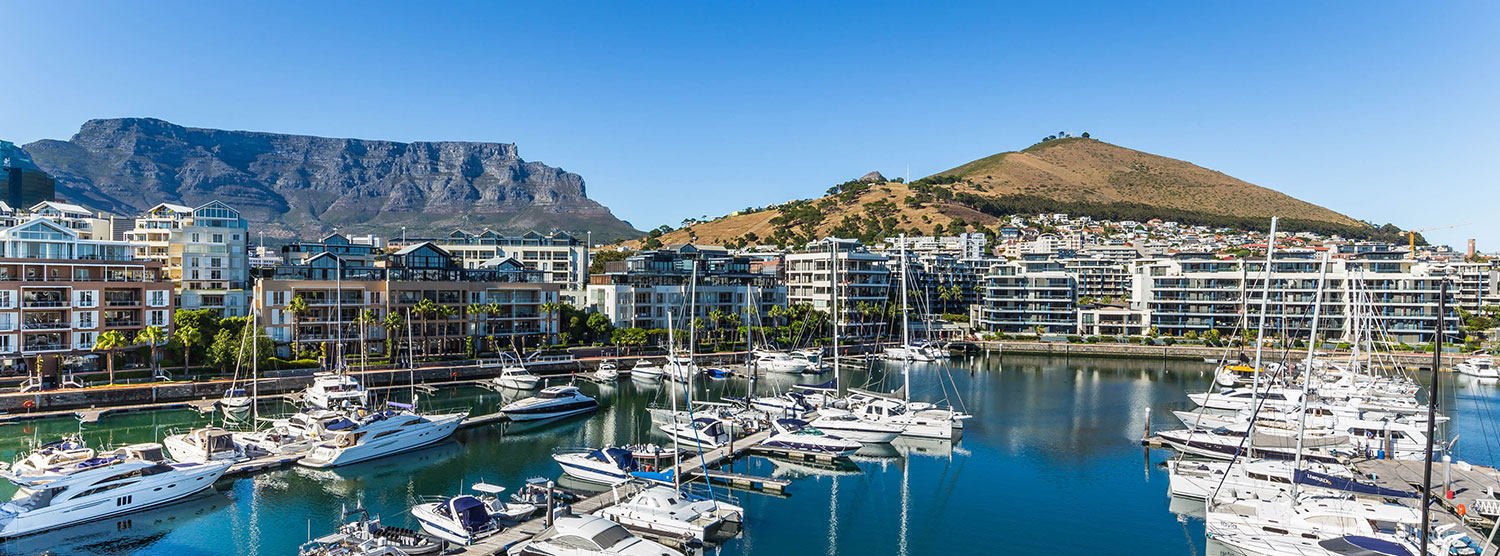 View of Table Mountain and Lion's Head.