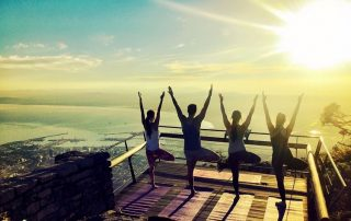 Sunrise Yoga on Table Mountain.